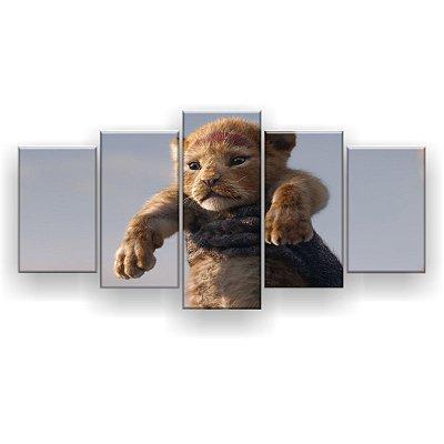 Quadro Decorativo Simba 129x61 5pc Sala