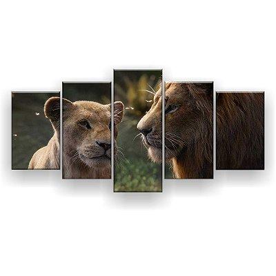 Quadro Decorativo Nala Simba 129x61 5pc Sala