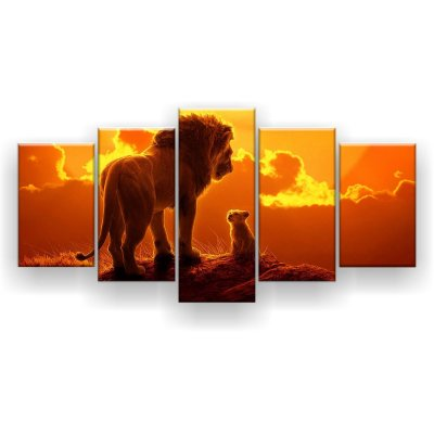 Quadro Decorativo Simba Com Mufasa 129x61 5pc Sala