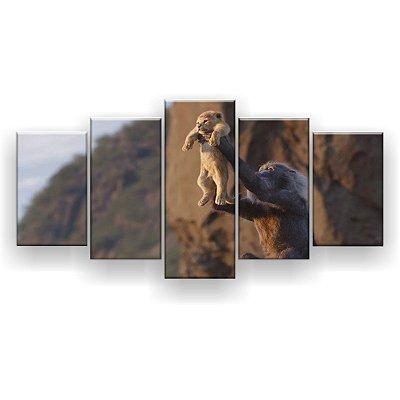 Quadro Decorativo Simba Apresentado 129x61 5pc Sala