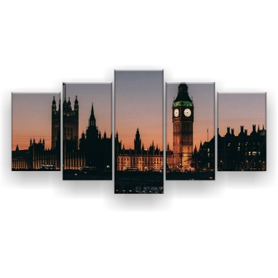 Quadro Decorativo Big Ben Entardecer 129x61 5pc Sala