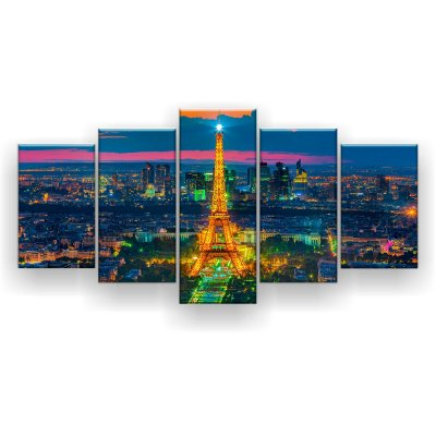 Quadro Decorativo Paris Iluminada 129x61 5pc Sala
