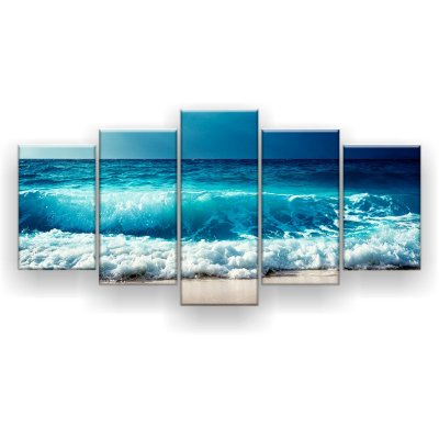 Quadro Decorativo Ondas Mar 129x61 5pc Sala