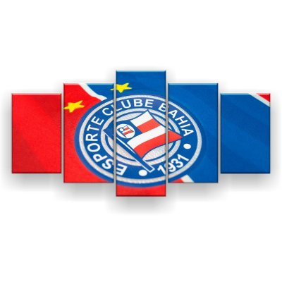 Quadro Decorativo Bahia Futebol Clube 129x61 5pc