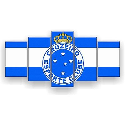 Quadro Decorativo Cruzeiro Futebol Clube 129x61 5pc