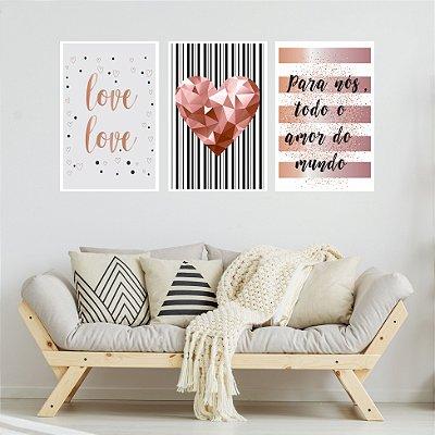 Quadro Decorativo Para Nós Todo Amor 115x57 Sala Quarto