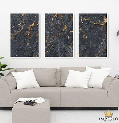 Quadro Decorativo Abstrato Cinza 115x57 Sala Quarto