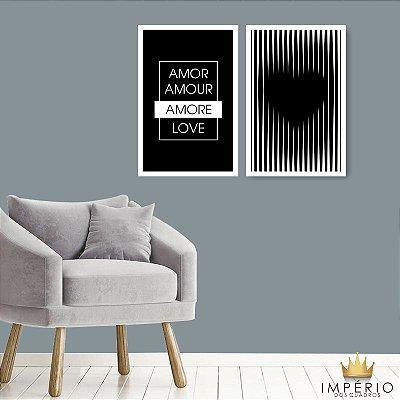 Quadro Decorativo Amor Love 76x57 Sala Quarto