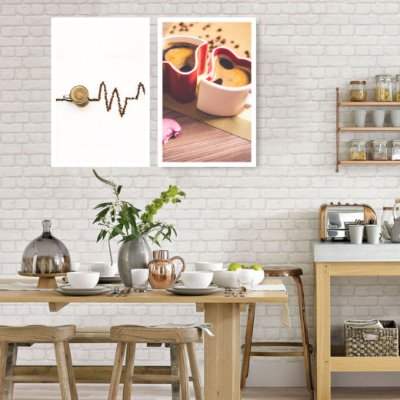 Quadro Decorativo Coffee Love 76x57 Sala Quarto