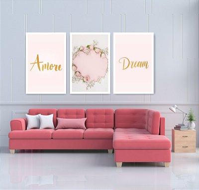 Quadro Decorativo Amore Dream 115x57 Sala Quarto