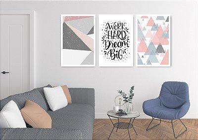 Quadro Decorativo Work Dream 115x57 Sala Quarto