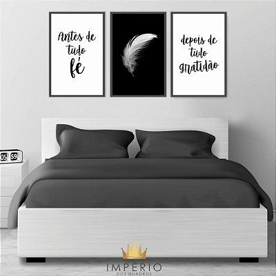 Quadro Decorativo Antes De Tudo Black White 115x57 Sala Quarto