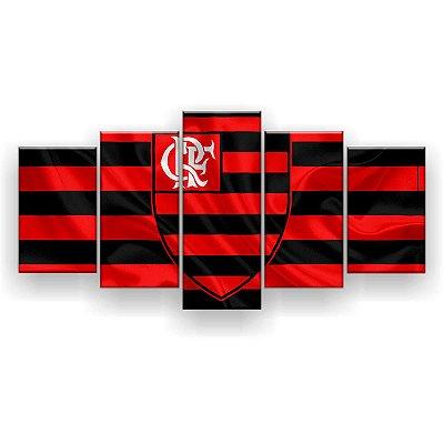Quadro Decorativo Flamengo Futebol Clube 129x61 5pc