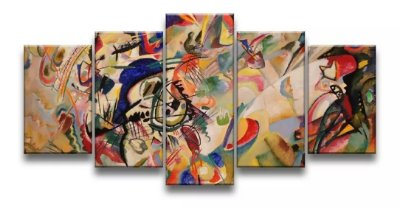 Quadro Decorativo Arte Composição Vii Kandinsky 129x61 5pc
