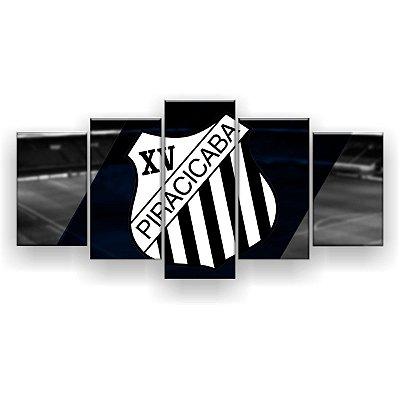 Quadro Decorativo XV Piracicaba Futebol Clube 129x61 5pc