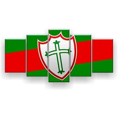 Quadro Decorativo Portuguesa Futebol Clube 129x61 5pc