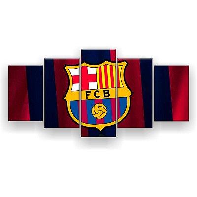 Quadro Decorativo Barcelona Futebol Clube 129x61 5pc
