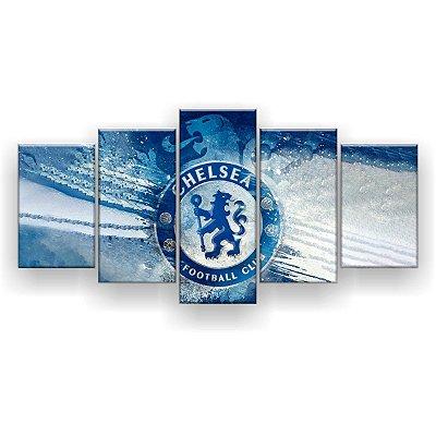 Quadro Decorativo Chelsea Futebol Clube 129x61 5pc