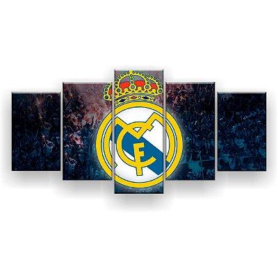 Quadro Decorativo Real Madrid Futebol Clube 129x61 5pc