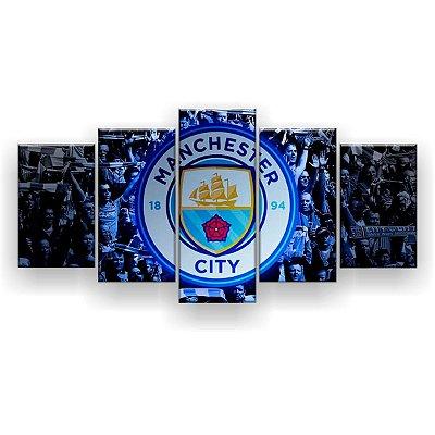 Quadro Decorativo Manchester City Futebol Clube 129x61 5pc