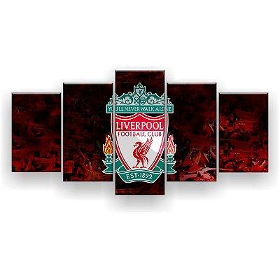 Quadro Decorativo Liverpool Futebol Clube 129x61 5pc