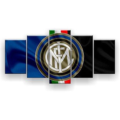 Quadro Decorativo Internazionale de Milano Futebol Clube 129x61 5pc
