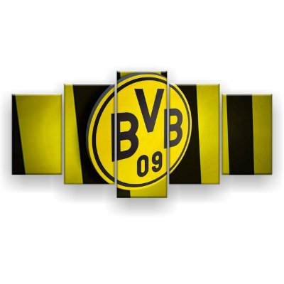 Quadro Decorativo Borussia Dortmund Futebol Clube 129x61 5pc
