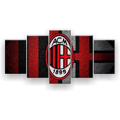 Quadro Decorativo Milan Futebol Clube 129x61 5pc
