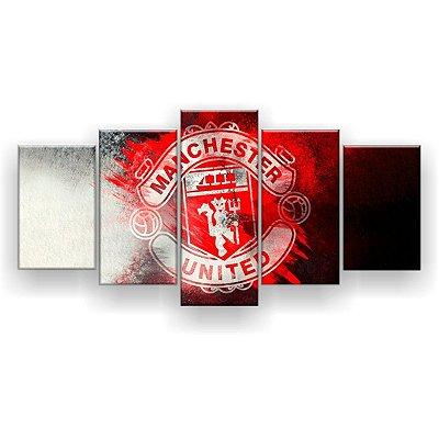 Quadro Decorativo Manchester United Futebol Clube 129x61 5pc