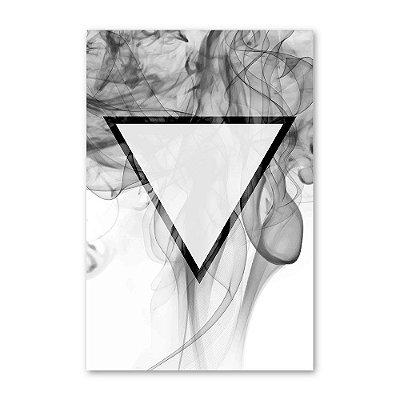 Quadro Decorativo Triângulo Invertido - 20x30