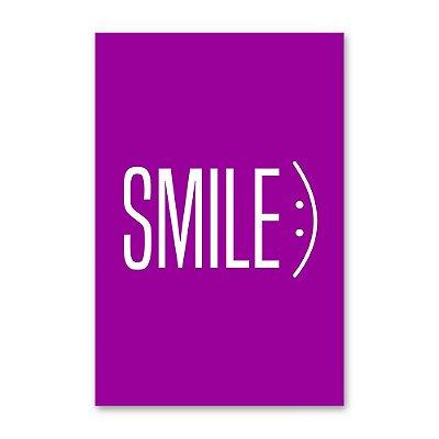 Quadro Decorativo Smile Roxo 20x30