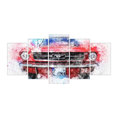 Quadro Decorativo Mustang Mosaico 129x61 5pc