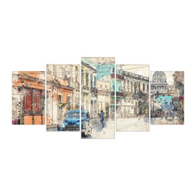 Quadro Decorativo Urban Mosaico 129x61 5pc
