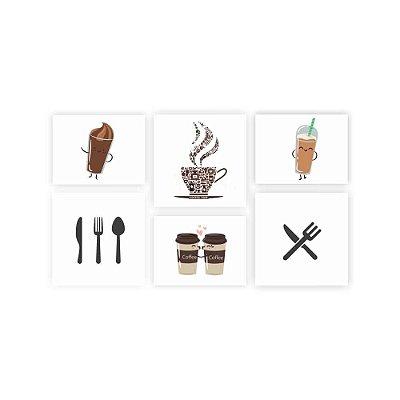 Quadro Decorativo Cozinha 03 Composição 64x37 6pc