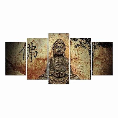 Quadro Decorativo Buda Símbolo Japonês 129x61