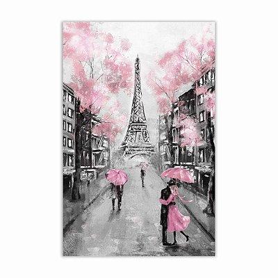 Quadro Decorativo Paris em Preto e Branco 37x57