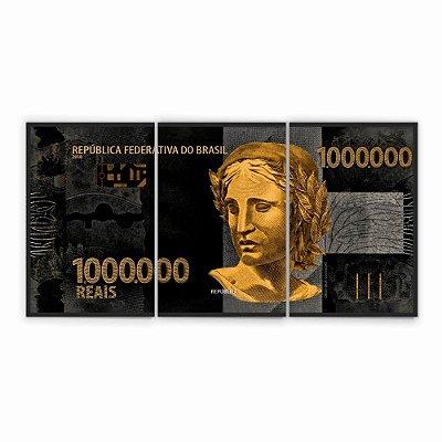 Quadro Decorativo 1 Milhão de Reais 115x57