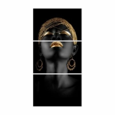 Quadro Decorativo Mulher Wakanda 3PV 56x109