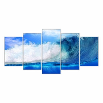 Quadro Decorativo Ondas Surf 129x61 5pc