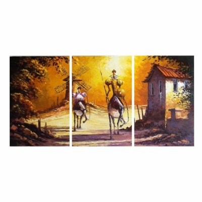 Quadro Decorativo Dom Quixote 124 x 60 3pc