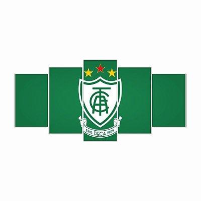 Quadro Decorativo América Mineiro Futebol Clube 129x61