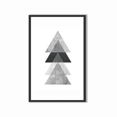 Quadro Decorativo Triângulos 60x40