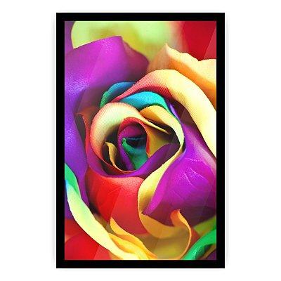 Quadro Decorativo Flor Colorida 20x30