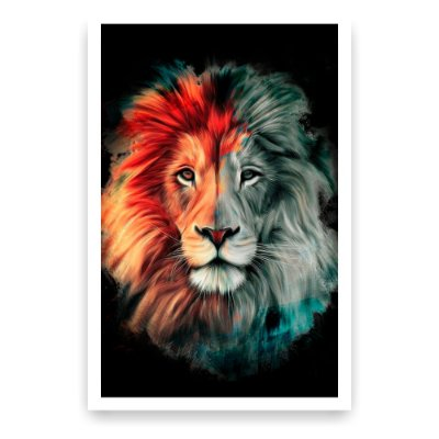 Quadro Decorativo Leão Color 20x30
