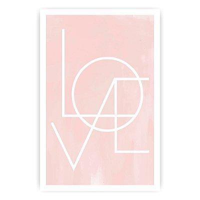 Quadro Decorativo Love 20x30