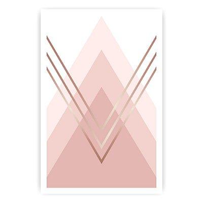Quadro Decorativo Triângulo Rose 20x30