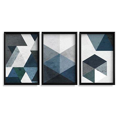 Quadro Decorativo Abstrato Azuis