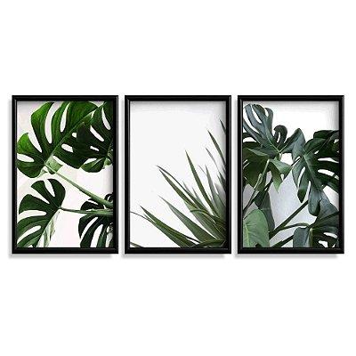 Quadro Decorativo Folhas Verdes