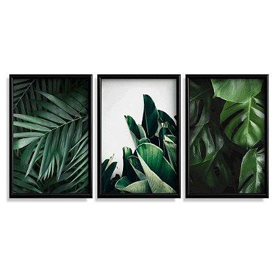 Quadro Decorativo Folhas Verdes 2