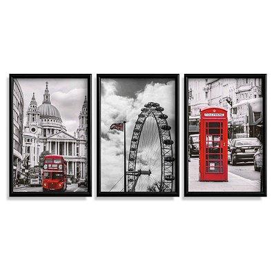 Quadro Decorativo Londres Vermelho